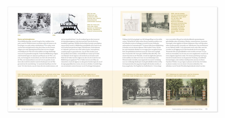 Spread van Vlietboek over Landgoed Middenburg